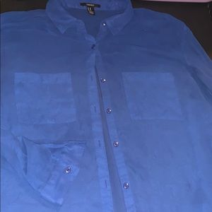 Forever 21 blue button up